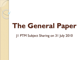 Preparation for GP - JJC General Paper Wiki