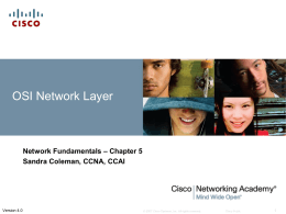 Ch. 5 - OSI Network Layer - Information Systems Technology