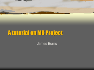 Microsoft Project Tutorial