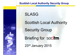 Iain Kerr, Chair of the Scottish LA Security Group - Update