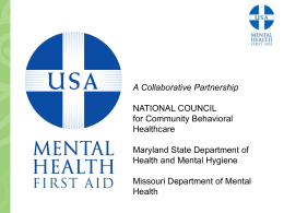 Mental Health First Aid - NH Alcohol and other Drug Service