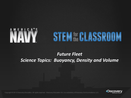 What is Buoyancy? - Navy STEM for the Classroom