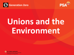 Unions and the environment