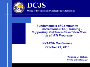 Fundamentals of Community Corrections (FCC) Training