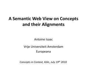 Isaac, Antoine: A Semantic Web View on Concepts and their