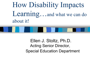 Disability Awareness and Universal Design