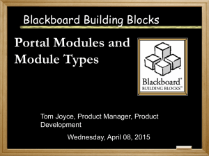 Portal Modules and Module Types