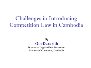 Preparation of Competition Law in Cambodia