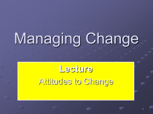 MC -Chapter 5 Managing Change
