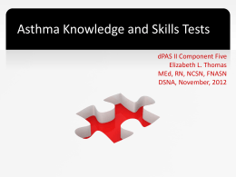Asthma Knowledge and Skills Tests