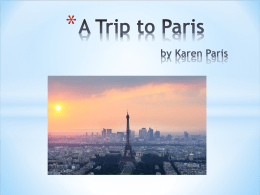 A Trip to Paris-Google Map Mini Project