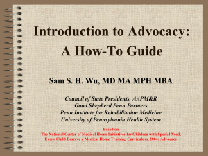 Introduction to Advocacy: A How-To Guide PowerPoint Presentation