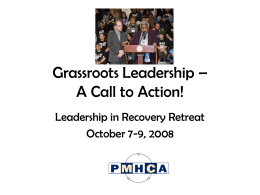 Grassroots Leadership – A Call to Action!