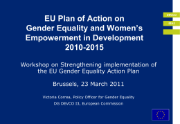 Gender in development - Practitioners Network of European