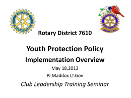 CLTS Youth Protection Policy.2013