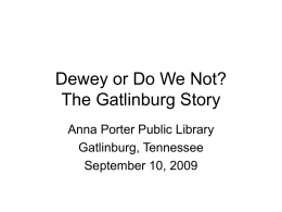 Dewey or Do We Not (PowerPoint)