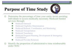 Purpose of Time Study - Texas Health and Human Services
