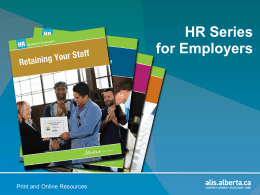 HR Series for Employers HR Series for Employers