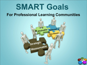 Developing SMART Goals - Osceola County School District