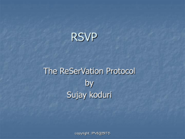 Overview of RSVP