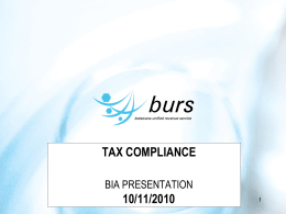 BICA Tax Compliance