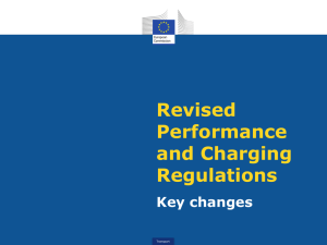 Revised performance and charging regulations – details /1