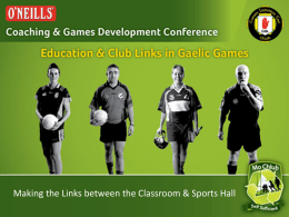 Making the Link between the classroom and Sportshall
