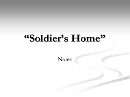 """Soldier`s Home"" - Butler County Schools"