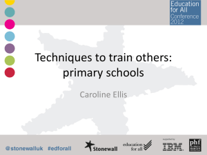 Techniques to train others in primary schools