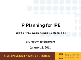 Facilitated Discussion Using the Points for IPE System (PIPES)