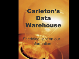 Data Warehouse Powerpoint Slideshow