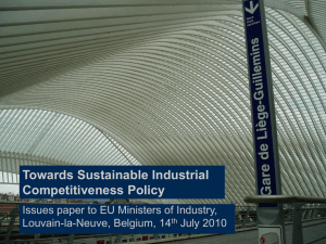 Projects 5/8: Strategic networks in the EU 27, ECORYS Brussels