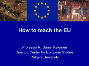 Teaching the European Union