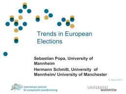 Trends in European Elections