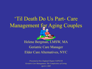 `Til Death Do Us Part- Care Management for Aging Couples