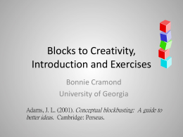 Blocks Activities - Trinity University