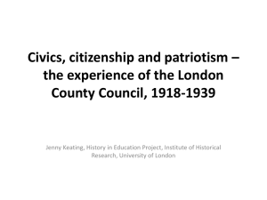 Civics, citizenship and patriotism