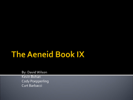 The Aeneid Book IX