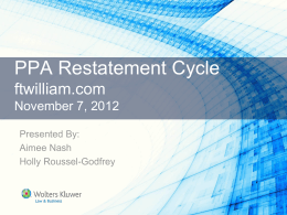Restatement Cycle