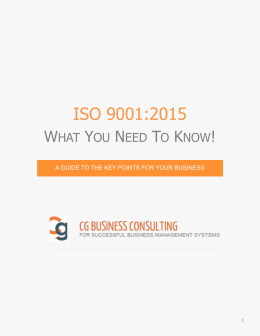 ISO 9001 – Why is it changing?