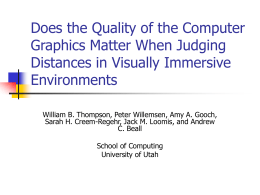 Does the Quality of the Computer Graphics Matter When Judging