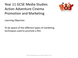 the notes on Promotion and Marketing