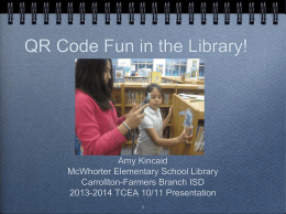 QR Code Fun in the Library PPT
