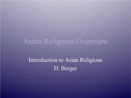 Asian Religions Overview