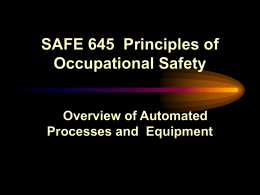 SA 111 Principles of Industrial Safety I