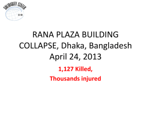 RANA PLAZA BUILDING COLLAPSE, April 24