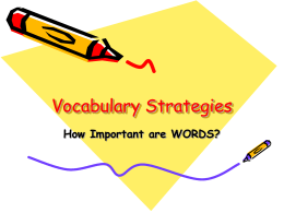 Vocabulary Strategies - Hamlin Middle School