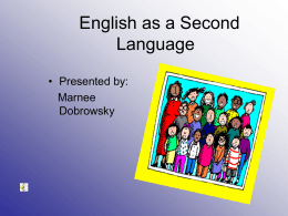 Overview of English as a Second Language Program