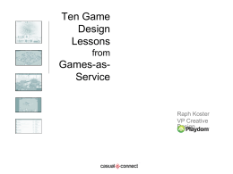 Ten Game Design Lessons from Games-as-Service