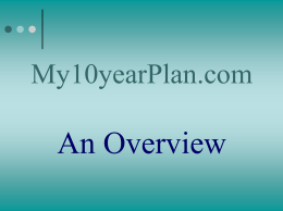 My10yearPlan.com An Overview